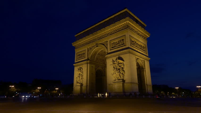 Arc De Triomphe De Létoile Stock Footage Video 100 Royalty Free