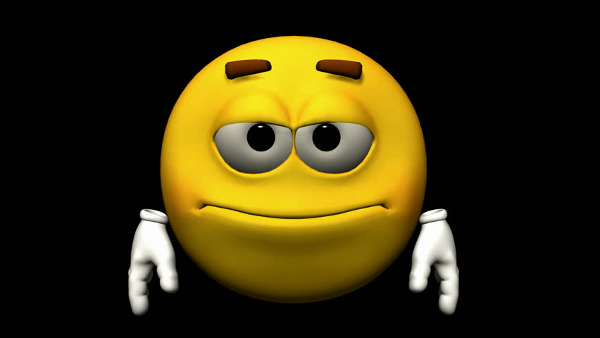 looping emoticon animation thumbs down stock footage