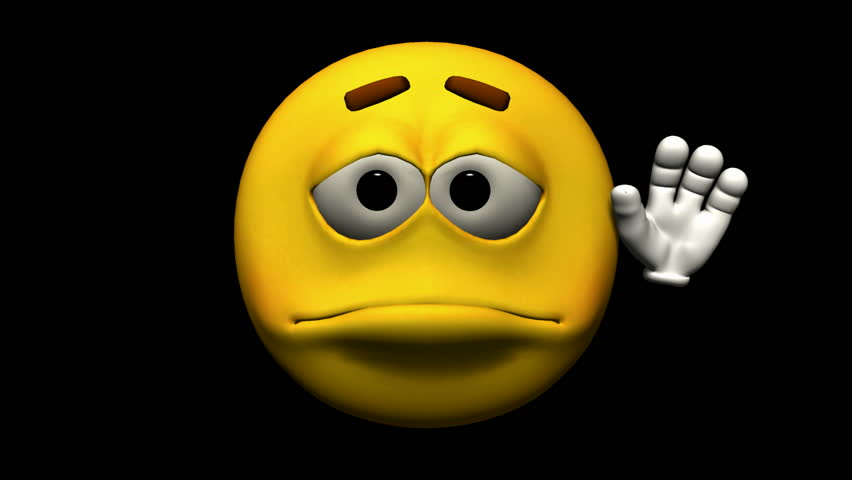 Looping Emoticon Animation: Thumbs Up Stock Footage Video ... Shocked Face Wave Emoji