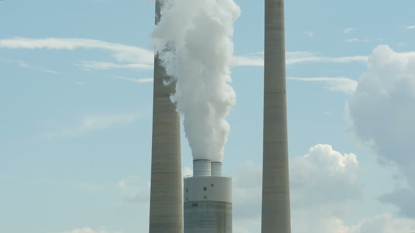 Stock video of smoke stacks of the coal-burning kingston   7245088 ...