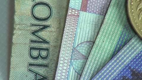 Paper Money, Bills, Currency, Colombia