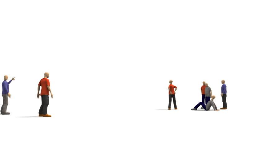 3D men presenting dancing concept    Shutterstock HD Video #729148