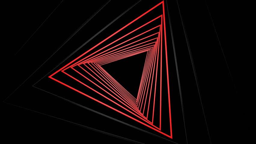 Red Flashing Triangle Is A Vidéos De Stock 100 Libres De Droit 7347568 Shutterstock