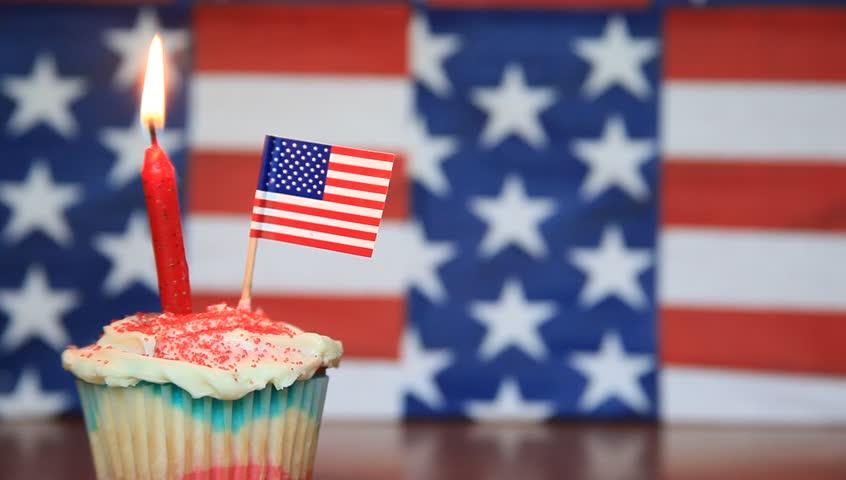 usa birthday Happy Birthday Usa Cupcake(left) Stock Footage Video (100% Royalty  usa birthday