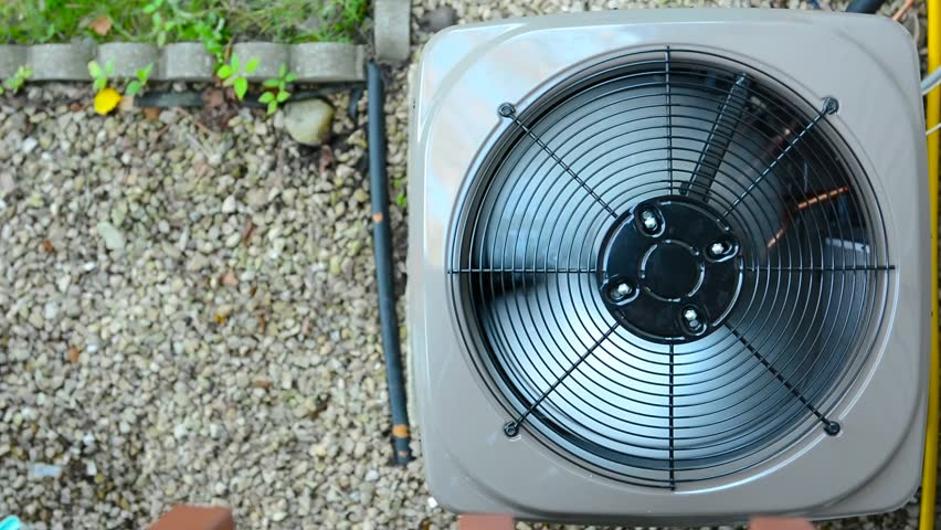 Air Conditioning Compressor Fan Rotating