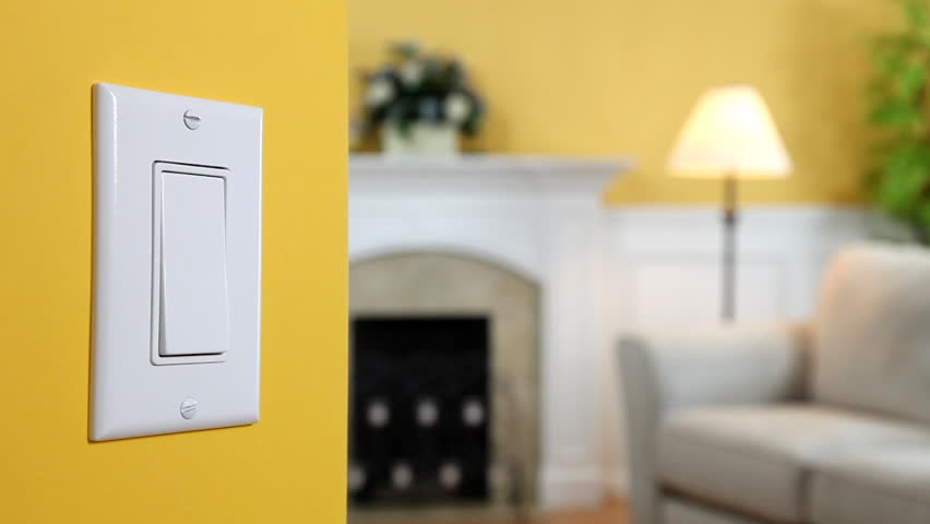 Wall Light Switch Being Turned Stock Footage Video (100% Royalty ...