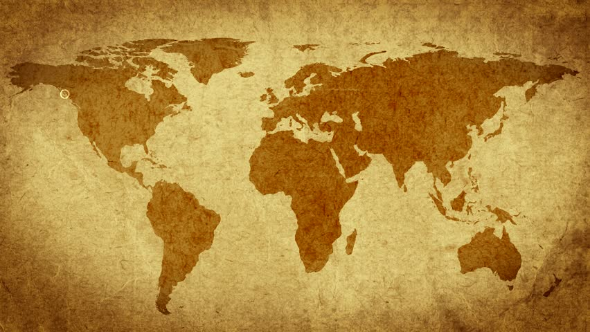 Stock video of vintage map of the world old 8950558 shutterstock related video keywords gumiabroncs Gallery
