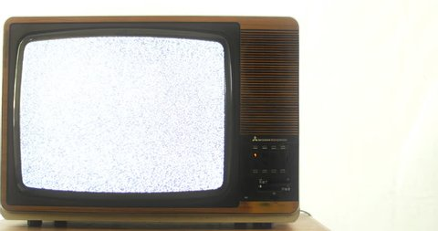 End of an era, TV. 76 years of television history came to an end at midnight on Wednesday 24 October 2012 when the analogue TV signal was switched off. (UK, July 2014)
