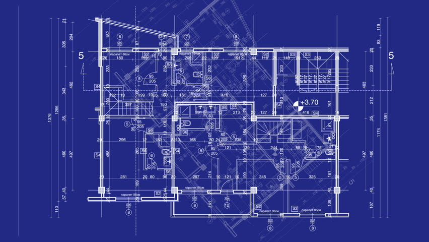 Stock video of graphic design layout process time lapse 976756 hd0017abstract architecture background blueprint house plan with sketch of city animated in background malvernweather Image collections
