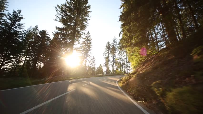 Video footage of driving on a country road in the black forest in germany #7450828