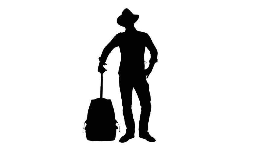 Travel Cowboy Silhouette Waiting Flight 1080p Silhouette