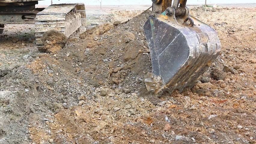 Backhoe Working Scoop Soil in Stock Footage Video (100% Royalty-free)  7481818   Shutterstock
