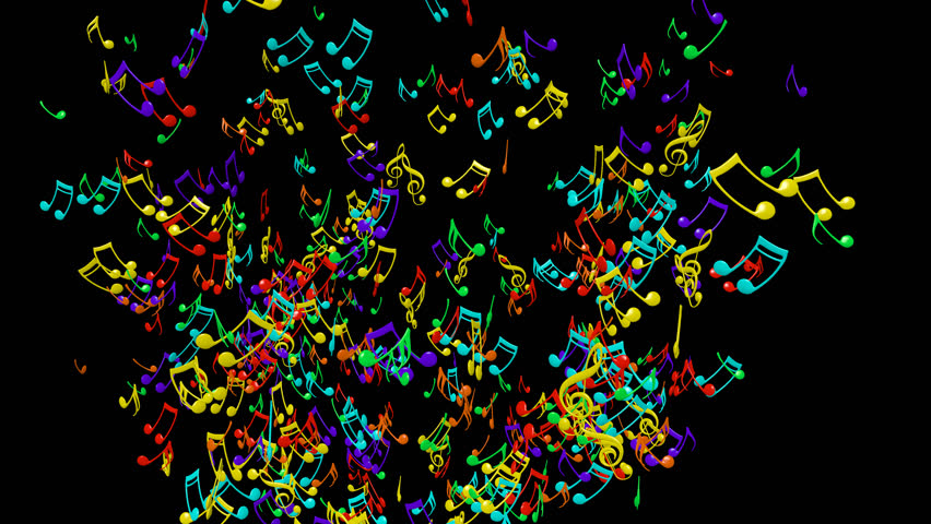 3d Colorful Music Notes Wallpaper: Animated Flying Colorful 3d Music Notes 2 In 4k