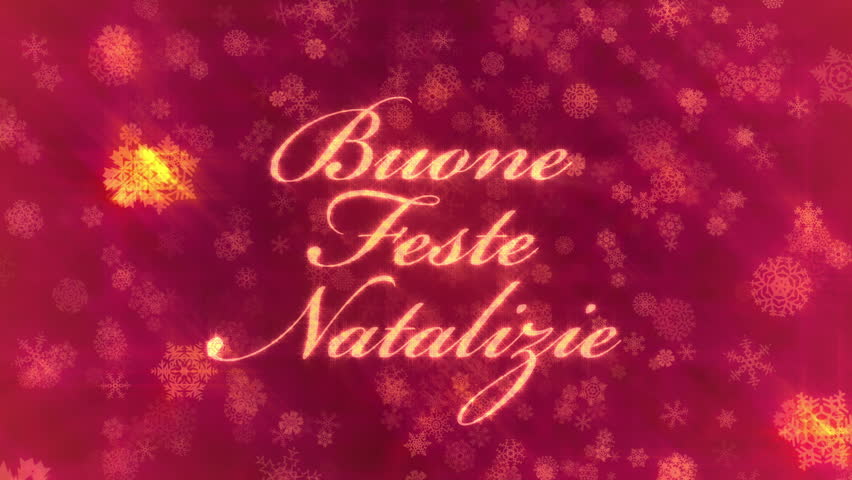 Merry Christmas In Italian.Buone Feste Natalizie Merry Christmas Stock Footage Video 100 Royalty Free 7495228 Shutterstock