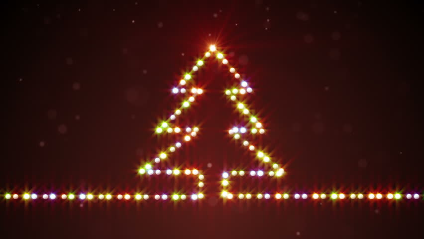 Wonderful Christmas Tree Shape Lights. Computer Generated Seamless Loop Abstract  Motion Background Stock Footage Video 7508428 | Shutterstock