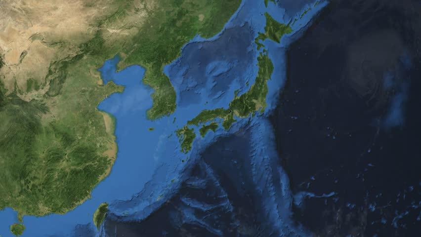 Japan Map Stock Footage Video Shutterstock - Japan map 3d