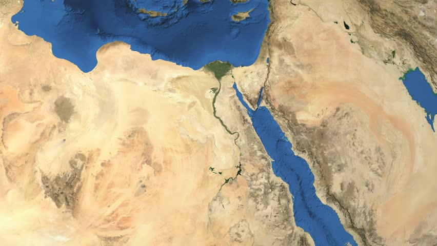 Middle East And North Africa Map Stock Footage Video Shutterstock
