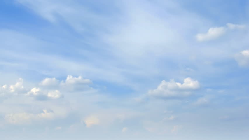 Loop of beautiful clouds. Time lapse HD