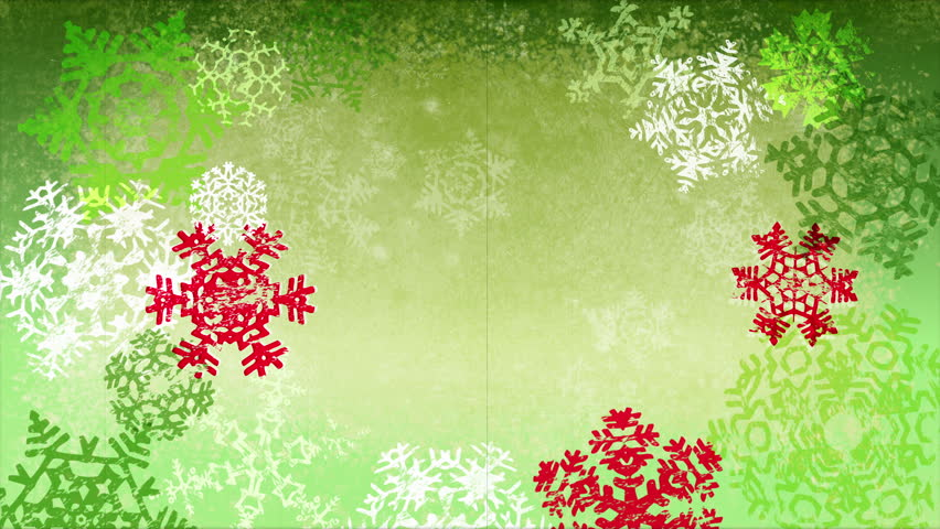 Стоковое видео «Grunge Textured Christmas Snowflakes ...