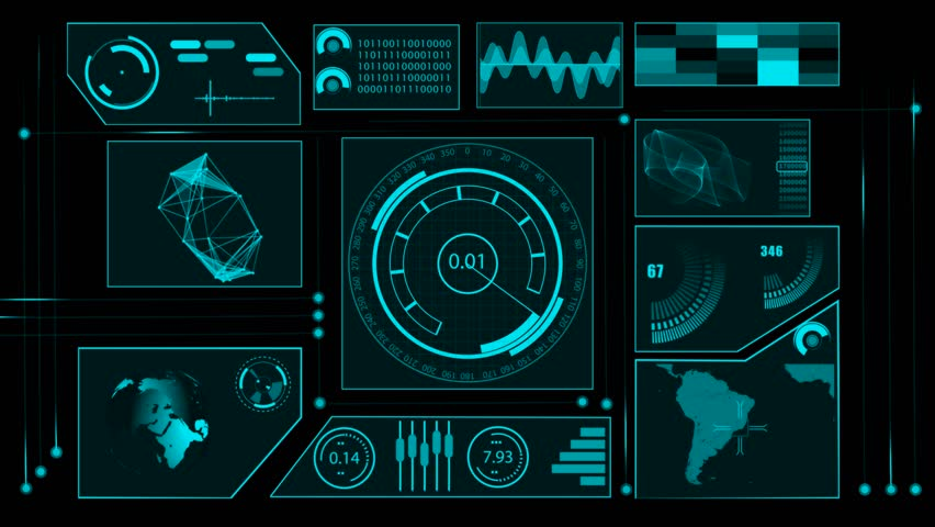 Futuristic Technology Interface Computer Data Screen Stock ...
