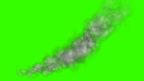 Little Smoke whit Wind green screen 25 fps animation