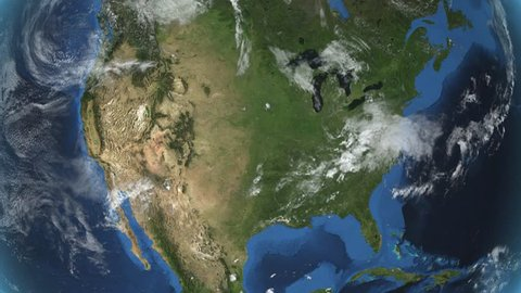 United States (without Alaska). Zoom in on United States contoured.