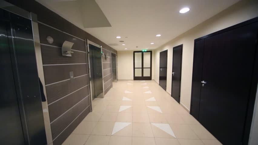 Empty High School Hallway Stock Footage Video 10403939