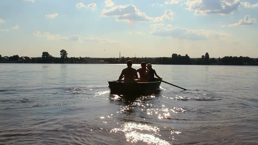 Rowboat stock footage video shutterstock for 3 person fishing boat