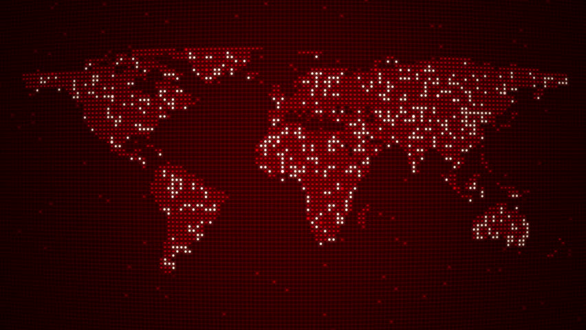 Abstract world map with route lines and colorful dots ideal for digital red world map loop five colors in portfolio hd stock video clip gumiabroncs Image collections