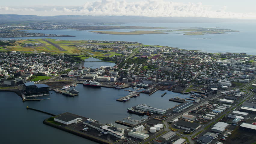 Aerial Reykjavik Harbor Iceland City Stock Footage Video (100%  Royalty-free) 7689838 | Shutterstock