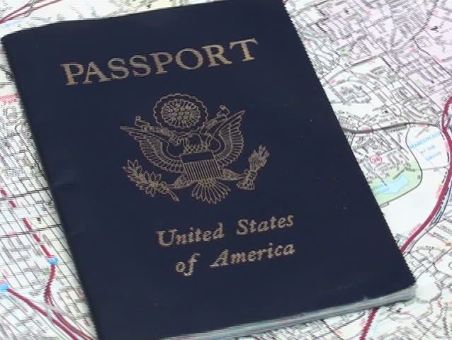 United States Passport And Road Map Ntsc Sd Stock Video Clip