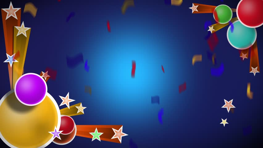 Celebration 002. Animated Title Background With Balloons ...
