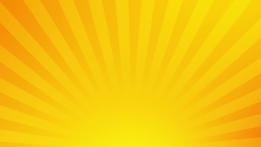 simple clock on yellow ray background stock footage video 13467092