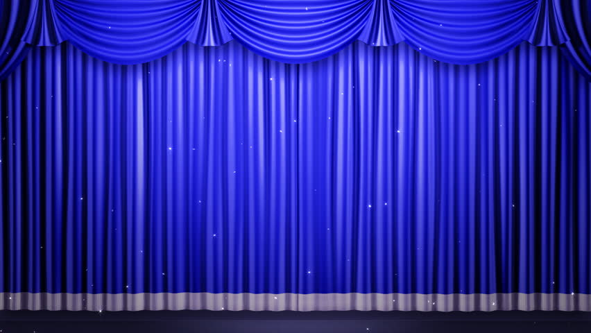 Theater Curtain. Stage Curtain. Stock Footage Video (100% Royalty
