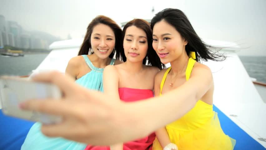 Asian three girls