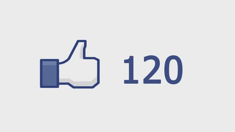 "CRIMEA, UKRAINE, JANUARY 21, 2014: Facebook concept ""Like button"" with numbers on social network. Facebook is the most popular online social networking service in the world."