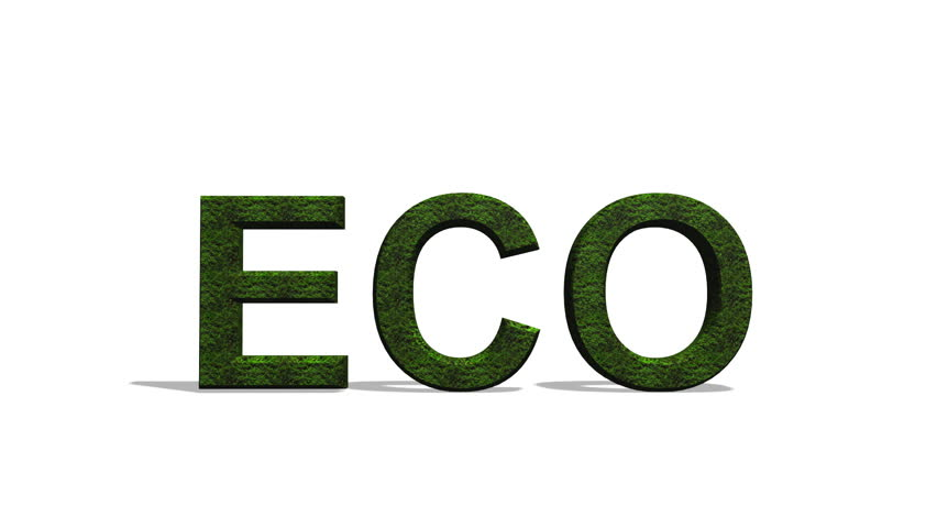 ECO Text with ivy animated growing on it