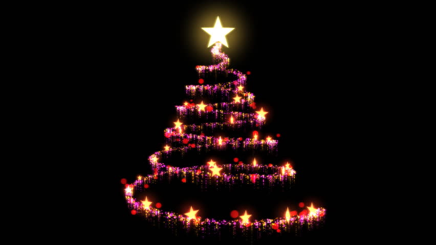 Christmas Tree On Black Background Stock Footage Video 2843653 ...