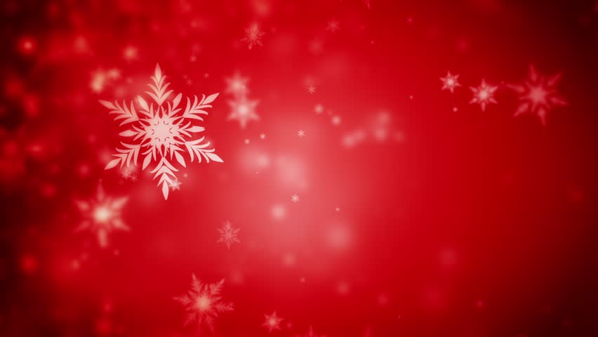 Falling Snowflakes Background Seamless Looped 3d Animation With A Depth Of Field