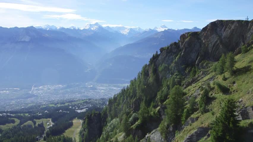 Mountain aerial shot Aerial shot of Switzerland