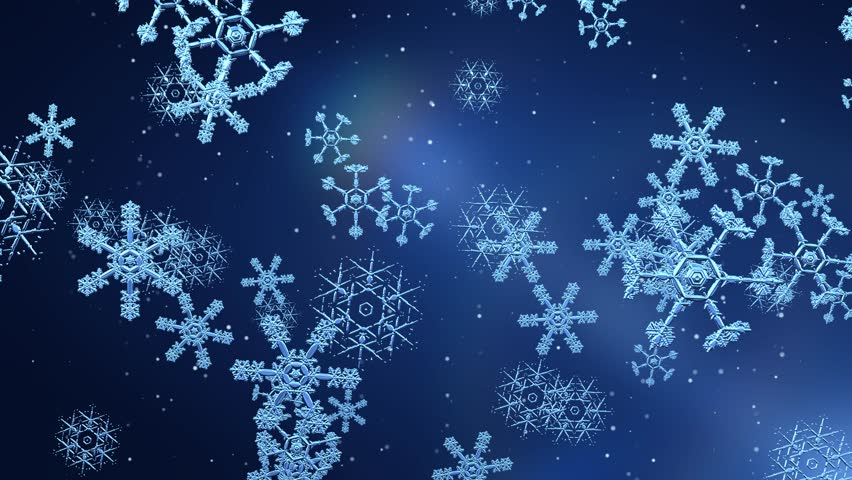 snow flakes falling animated festive abstract background