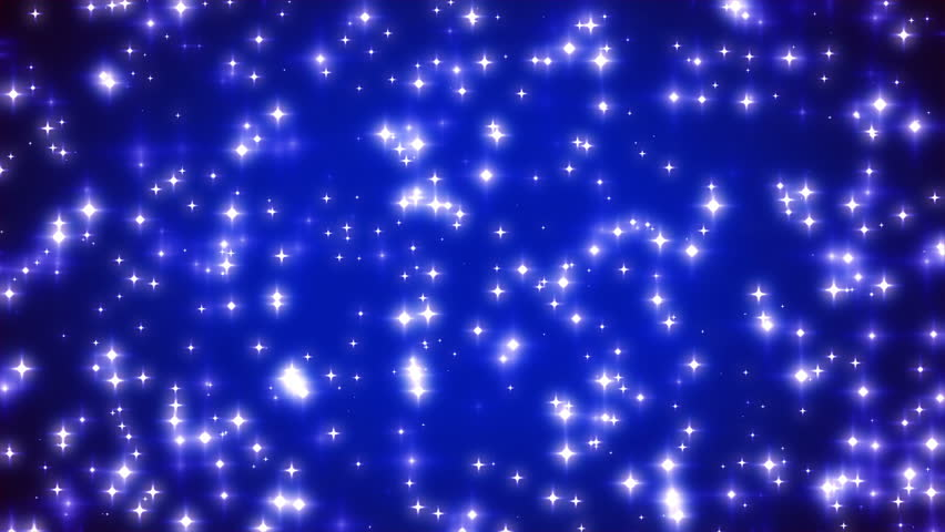 Blue Twinkling Stars on Vignette Background Loop 2
