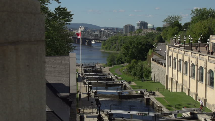 MONTREAL, CANADA - 03 OCT, 2014: 4K Time Lapse Rideau Canal With ...