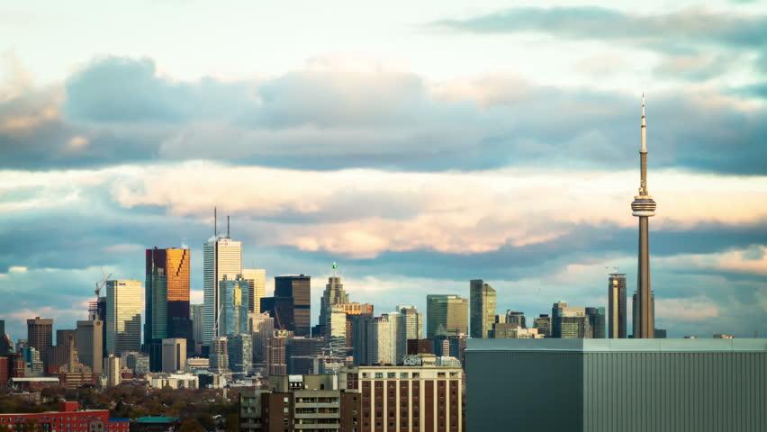 4K Timelapse of Toronto Skyline before sunset  4K Toronto Skyline Footage   Shutterstock HD Video #7975207