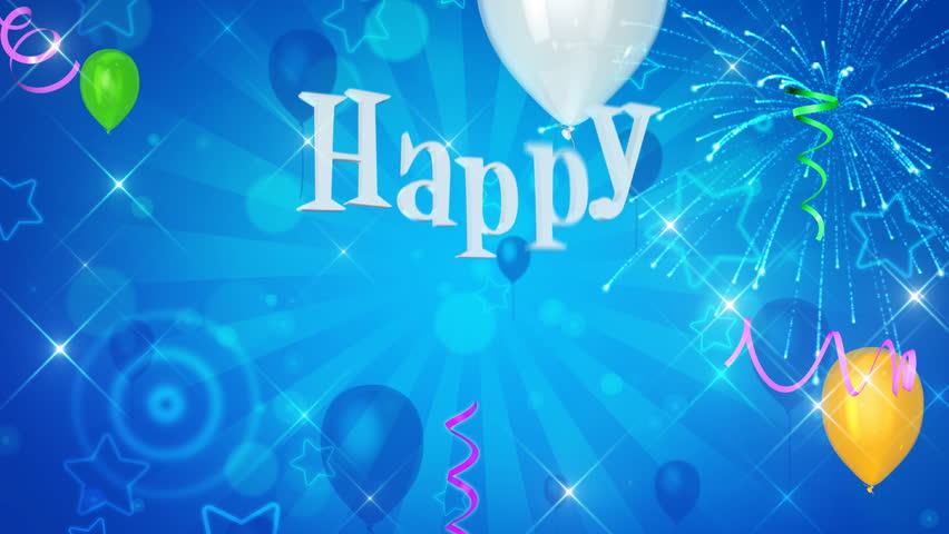 Happy Birthday Text Appears On Beautiful Background Stock