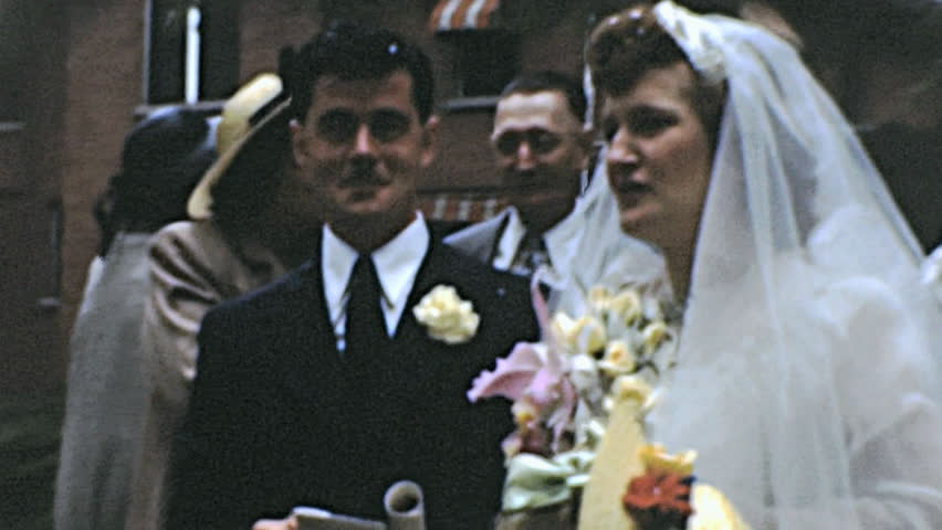 Usa 1950s Wedding After The In Hd