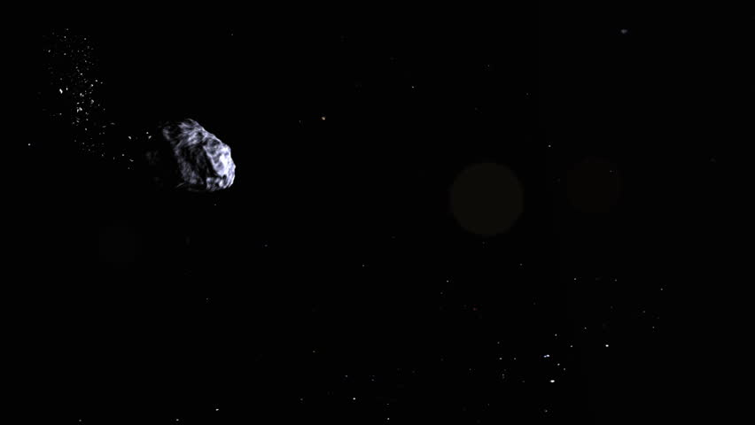 asteroid crash to the earth, realistic 3d animation