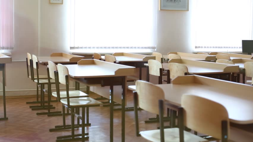 Classroom with Rows of Desks Stock Footage Video (100% Royalty-free)  8053648 | Shutterstock