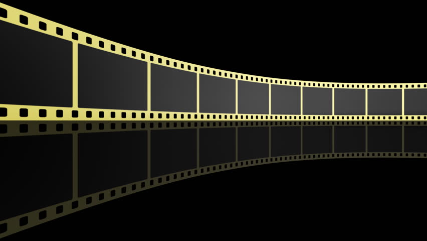 Film Reel Background With Shine Stock Footage Video