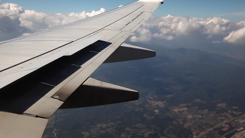 Outstanding Beautiful Airplane Wing Shot From Stock Footage Video 100 Royalty Free 8096788 Shutterstock Machost Co Dining Chair Design Ideas Machostcouk